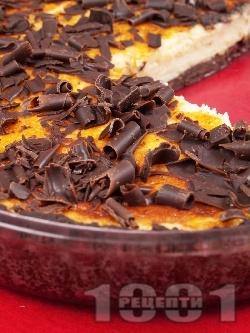 Шоколадова тарта с лимонов крем - снимка на рецептата